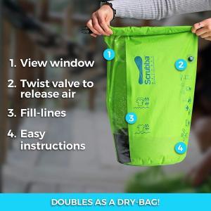 旅行用洗濯袋 Scrubba Washbag スクラバ ウォッシュバッグ 便利トラベルグッズ キャンプ 2017年モデル+トラベルセット(脱 takes-shop