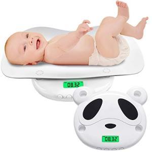 ベビースケール デジタル パンダ 新生児体重計 高精度 5g単位 はかり 赤ちゃん用 乳幼児 授乳 多機能 風袋機能付き 単位切替機能 表示|takes-shop