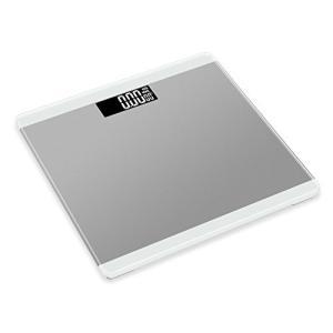 MUYI 電子はかり 体重計 ガラス 電池使用量表示 0.2kg-180kg (M, 銀)|takes-shop