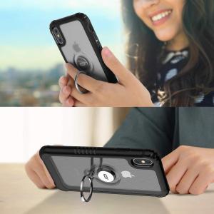 ICONFLANG iPhone XS MAX 対応 ケース リングスタンド付き アイフォン xs max 用スマホカバーケース 6.5イン|takes-shop
