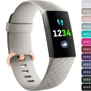 YWSHF 時計ベルト fitbit charge3 バンド 交換 おしゃれ 調整 シリコンバンド 交換ベルド フィットビット チャージ 3|takes-shop