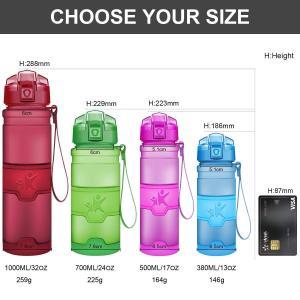 KollyKolla ボトル 水筒 プラスチック ウォーターボトル ドリンクボトル 700ml 直飲...