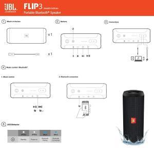 プライムデー記念発売商品JBL FLIP3 SE Bluetoothスピーカー IPX7防水/パッシブラジエーター搭載/ポータブル ブラック|takes-shop