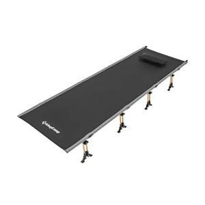 KingCamp コット 最新版 折りたたみベッド 簡易 耐荷重200KG 軽量 コンパクト 航空アルミ 収納袋付 KC3988|takes-shop