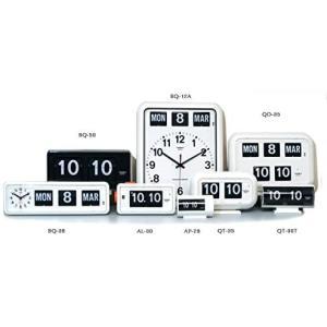 TWEMCO トゥエンコ デジタルカレンダークロック パタパタ時計 置き・掛け兼用bq-38WH|takes-shop
