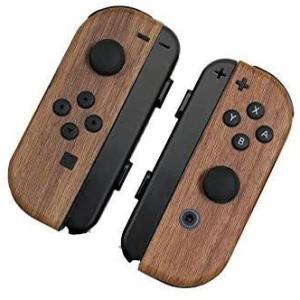 Nintendo Switch ジョイコン 用 スキンシール カバー シール ケース 木目調 高級素材 側面対応 丈夫で長持ち 保護 ナチュ|takes-shop