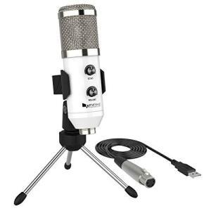 FIFINE USBマイク コンデンサーマイク 単一指向性 エコー機能付き PC用マイク 在宅勤務 ライブ配信 録音 放送 ボイズチャット|takes-shop