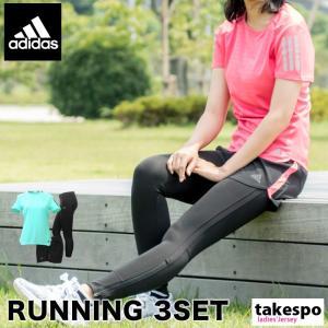 アディダス Tシャツ レディース adidas タイツ ショートパンツ ランニング 3点セット 17FWADIRUN