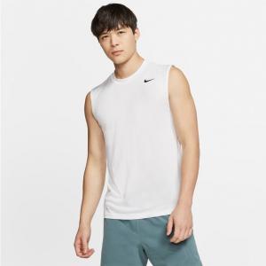 ナイキ Tシャツ メンズ 上 NIKE ワンポイント 無地 タンクトップ ドライ 吸汗速乾 ノースリ...