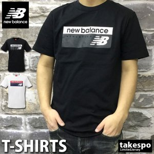 ニューバランス Tシャツ メンズ 上 newbalance 春 夏 ビッグロゴ 半袖 新作|takespo