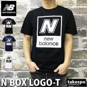 ニューバランス Tシャツ メンズ 上 newbalance ビッグロゴ 春 夏 綿 100% 半袖 新作 takespo