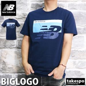 ニューバランス Tシャツ メンズ 上 newbalance 綿100% ビッグロゴ 半袖 新作|takespo