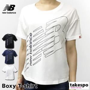 ニューバランス Tシャツ レディース 上 newbalance 春 夏 ビッグロゴ 半袖 新作|takespo