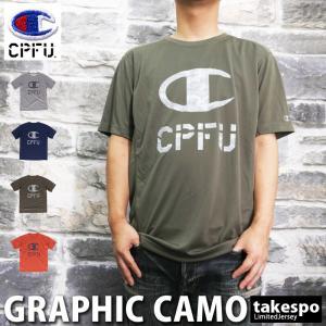 チャンピオン Tシャツ メンズ 上 Champion ドライ ビッグロゴ 速乾 半袖 CPFU 新作 takespo