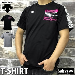 デサント Tシャツ メンズ 上 DESCENTE ドライ バレーボール 吸汗速乾 バックプリント 半袖 新作|takespo