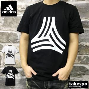 アディダス Tシャツ メンズ 上 adidas ビッグロゴ 綿 100% XS S M L XL XXL XXL 白 黒 ストリート系 半袖 TANGO タンゴ アウトレット SALE セール|takespo