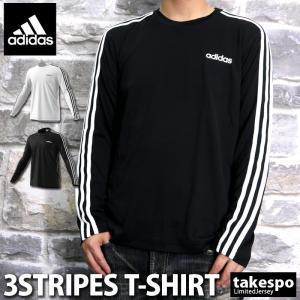 アディダス Tシャツ メンズ 上 adidas ドライ 速乾 ワンポイント ロンT 長袖 CORE 新作|takespo