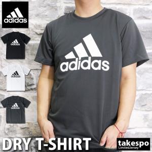 アディダス Tシャツ メンズ 上 adidas ビッグロゴ 吸汗速乾 ドライ 半袖 GOE26 送料無料 アウトレット SALE セールの画像