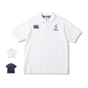 カンタベリー ポロシャツ メンズ 上 CANTERBURY ホワイト ラグビーワールドカップ2019 (TM) 日本大会 カンタベリーオフィシャルライセンス商品 送料無料 新作