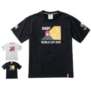 カンタベリー Tシャツ メンズ 上 CANTERBURY ラグビー ワールドカップ 2019 公式 ライセンス商品 日本代表 半袖 新作|takespo