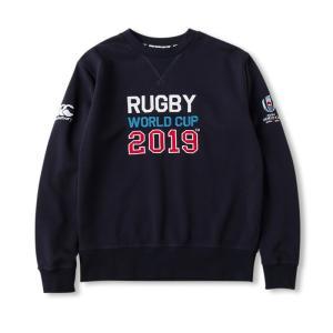 カンタベリー スウェットシャツ メンズ 上 CANTERBURY ラグビー ワールドカップ 2019 公式 ライセンス商品 日本代表 クルーネック トレーニングウエア 新作|takespo