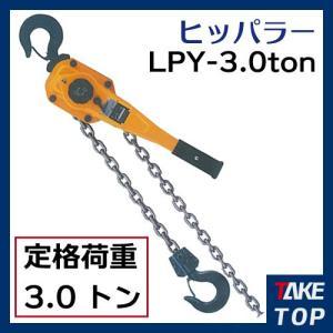 ヒッパラー LPY型 ラチェットレバーホイスト 3ton シングルチェーン LPY2-S3 鋼板製 揚程1.5m|taketop