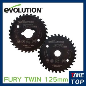 エボリューション 万能ツインカッター専用チップソー 125mm 2枚セット FURY TWIN 125対応