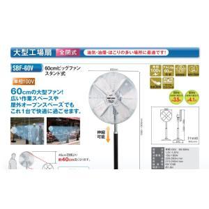 ナカトミ 大型工場扇ビックファン スタンドタイプ 羽根径60cm (全閉式) 単相100V SBF-60V|taketop
