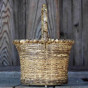 懐かしい昭和のお母さん愛用、虎竹買い物かご(丸)|taketora