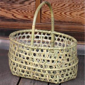堅牢な根曲竹をしっかり編み込んだマイバックに!他にも竹買い物かご、竹バック、竹手提げかご、市場かごな...