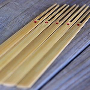 竹菓子楊枝5本セット(赤丸)|taketora