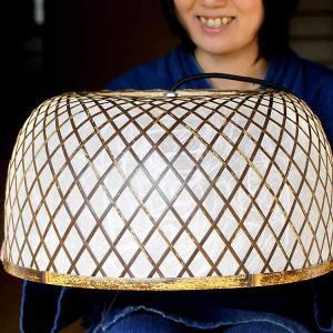 【受注生産】虎竹照明丸傘ライト(大)|taketora