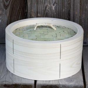 【国産】檜中華蒸籠(せいろ) 蒸し料理が美味しくできる 日本製蒸し器30cm身蓋セット|taketora