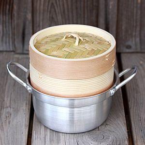 杉蒸籠(セイロ)15cm1段鍋付きセット|taketora