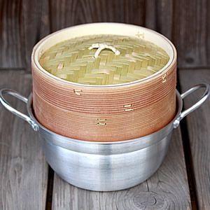 杉蒸篭(せいろ)18cm1段鍋付きセット|taketora