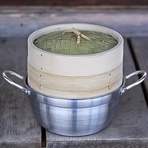 竹蒸篭(せいろ)18cm1段鍋付きセット|taketora