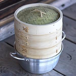 竹蒸篭(セイロ)18cm2段鍋つきセット|taketora