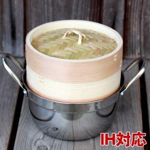 杉蒸篭(せいろ)15cm1段ガスコンロ・IH対応鍋つきセット|taketora