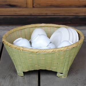 伝統の技が光る淡竹椀かご|taketora
