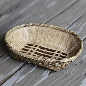 虎竹楕円盛り籠足付(小)|taketora