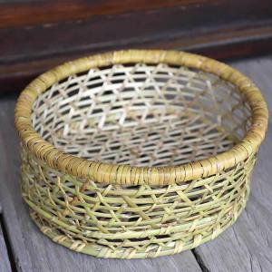 根曲竹楕円底付茶碗籠(大)|taketora