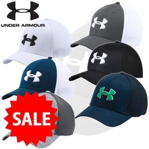 2017年秋冬モデル UNDER ARMOUR アンダーアーマー 17SS 1273280 ゴルフメッシュキャップ(ゴルフ/キャップ/MEN) 帽子 JAPANサイズ|takeuchi-golf