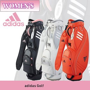 あすつく対応 2017年モデル adidas アディダス メタル ロゴ キャディバッグ レディース AWT90|takeuchi-golf