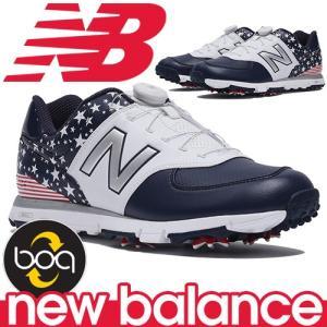 ニューバランス ゴルフシューズ ボア クロージャーシステム 軽量 スパイク メンズ New Balance golf boa MGB574US|takeuchi-golf