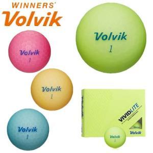ボルビック ゴルフボール 1ダース(12球) ヴィヴィッド ビビッド ライト volvik VIVID LITE 【国内正規モデル】【あす楽対応】|takeuchi-golf