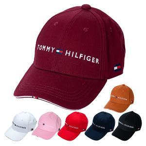 トミーヒルフィガー ゴルフ キャップ 帽子 メンズ レディース ロゴ サイズ調節 スポーツ 紺 白 黒 ベージュ 青 赤 ピンク 黄色 THMB90EF|takeuchi-golf