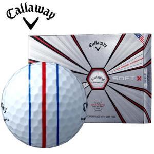 キャロウェイ クロムソフトエックス ゴルフボール 1ダース(12球) トリプルトラック 3ライン Callaway|takeuchi-golf