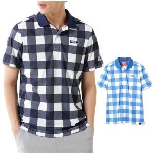 【商品情報】 半袖ポロシャツ。平ツバキャップをメッシュで表現し、更にブロックチェックをオーバープリン...
