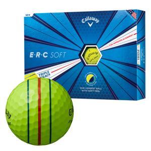ゴルフボール キャロウェイ Callaway ERC ソフト 1ダース 12球 メンズ レディース トリプル トラック テクノロジー 3ライン スリーライン 黄色 イエロー|takeuchi-golf