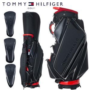 トミーヒルフィガー ゴルフ メンズ キャディバッグ ヘッドカバー3点付属 9型 4.8kg 5分割 カートバッグ THMG9FC1 TOMMY HILFIGER|takeuchi-golf